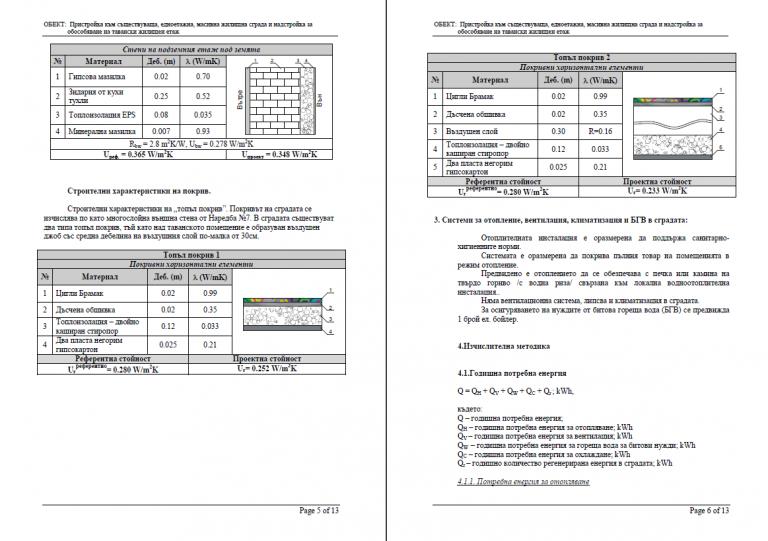 Проектиране по част енергийна ефективност, Енергирен проект, Енергетика ЛД