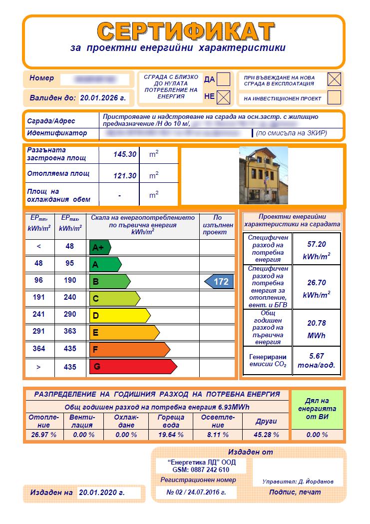 енергиен паспорт Енергетика ЛД